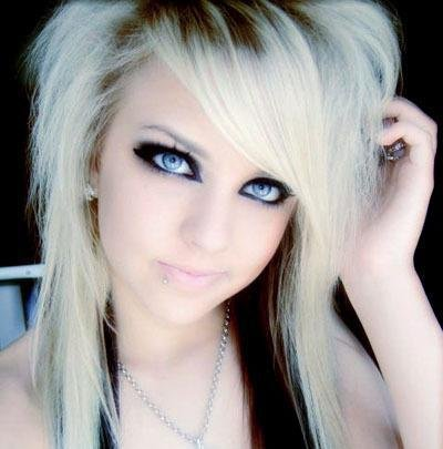 medium length emo hairstyles for girls. blonde medium emo hairstyles for girls hair pictures photos