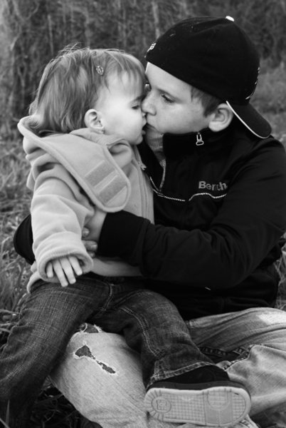 black and white photography kissing. Kids, Black and White, .