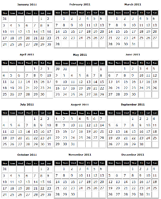 calendar march 2011 canada. girlfriend calendar march 2011